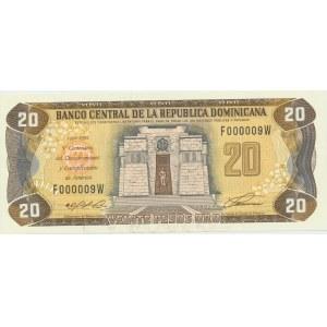 Dominican Republic 20 pesos 1992 - Small serial number