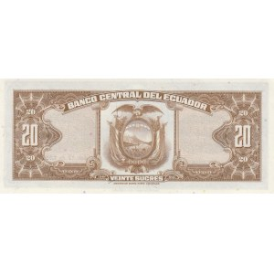 Ecuador 20 sucres 1966 (17.11.66)