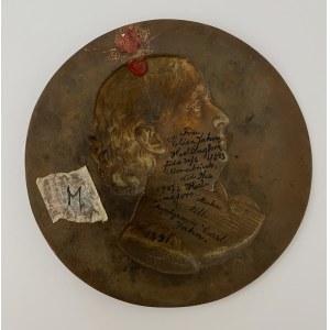 Germany Medallion Elise Jahn 1843-1907 by the engraver engraver Carl Jahn 1890