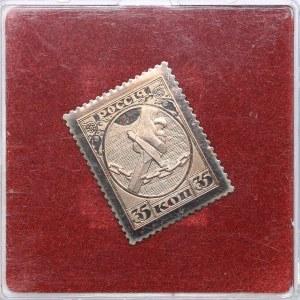 Russia - USSR metal stamp 35 kopeks 1918