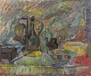 Helena ZAREMBA-CYBISOWA (1911-1986), Martwa natura z bułką, 1980