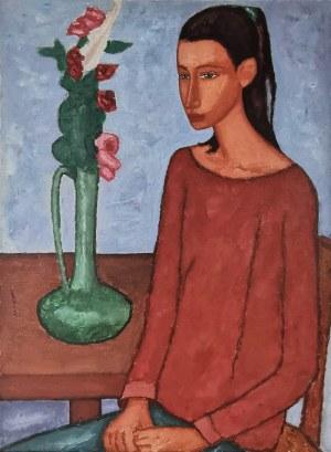Roman ZAKRZEWSKI (1955 - 2014), Portret dziewczyny, 1989
