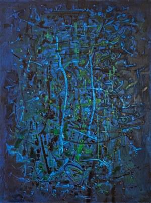 Leszek NOWOSIELSKI (1918-1999), Kompozycja niebieska, 1993