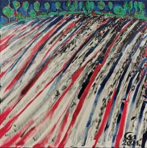 Marian GOŁOGÓRSKI (ur. 1948), Pejzaż abstrakcyjny, 2021