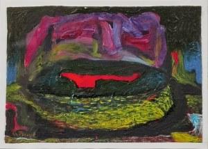 Grzegorz PIECYK (ur. 1958), Kompozycja z czerwoną plamą