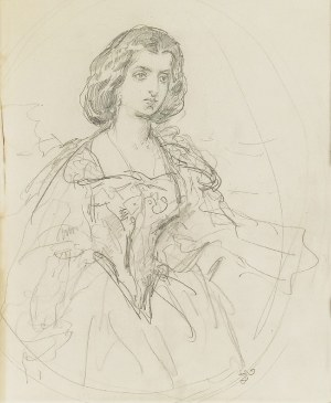 Jan MATEJKO (1838-1893), Królowa Bona - Portret żony artysty Teodory z Giebułtowskich Matejkowej