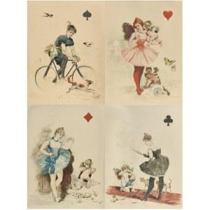Seweryn BIESZCZAD (1852-1923), Cztery damy z karcianej talii, 1899