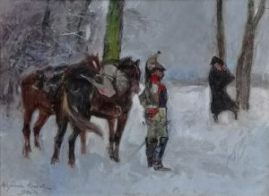 Wojciech KOSSAK (1856-1942), Zwiad, 1942