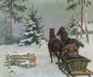 Leszek PIASECKI (1928-1990), Sanie zimą