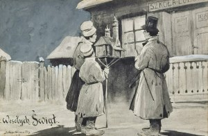 Juliusz HOLZMÜLLER (1876-1932), Kolędnicy, 1907