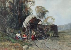 Frantisek MRAZEK (1876-1933), Odpoczynek w drodze
