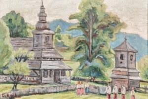 Emil KRCHA (1894-1972), Przed kościołem