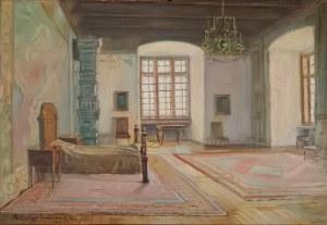 Błażej IWANOWSKI (1889-1966), Wawel - Wnętrze sypialni Zygmunta Starego, 1939