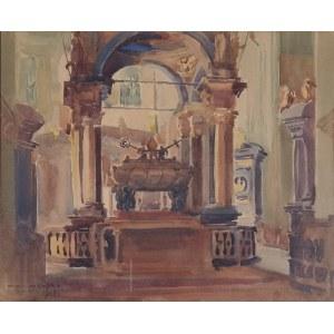 Henryk UZIEMBŁO (1879-1949), Wnętrze Katedry na Wawelu, 1915
