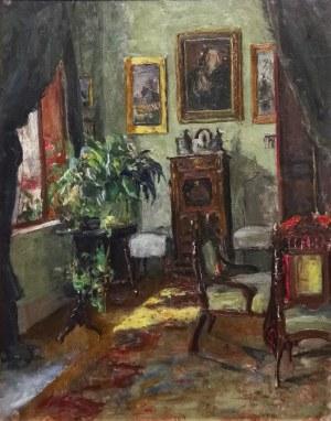 Malarz nieokreślony, XX w., Wnętrze pokoju