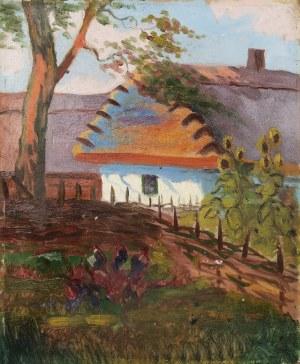 Malarz nieokreślony, w typie Henryka SZCZYGLIŃSKIEGO (1881-1944), Wiejska chata, ok. 1910