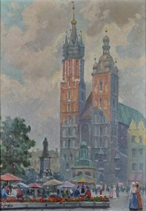 Władysław SERAFIN (1905-1988), Rynek w Krakowie
