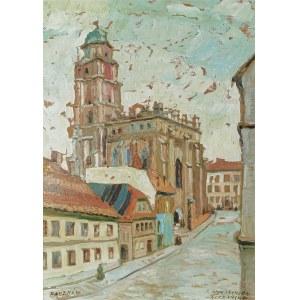 Irena NOWAKOWSKA-ACEDAŃSKA (1906-1983), Paczków - Widok z rynku na kościół Św. Jana Ewangelisty