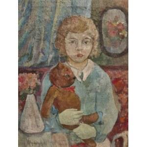 Jan HRYNKOWSKI (1891-1971), Dziewczynka z przyjacielem