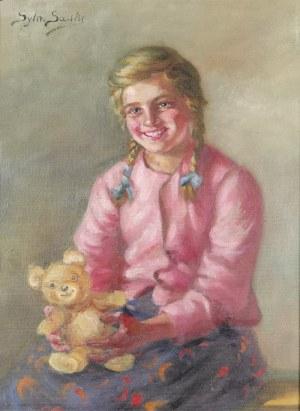 Sylweriusz SASKI (1863-1954), Dziewczynka z misiem