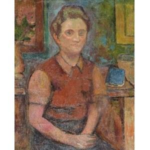 Jerzy FEDKOWICZ (1891-1959), Kobieta i niebieska książka