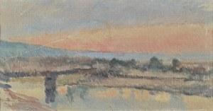 Tadeusz CYBULSKI (1878-1954), Mglisty poranek nad wodą, 1894