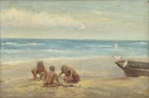 Stefan CHMIEL (1888-1978), Na plaży, 1949