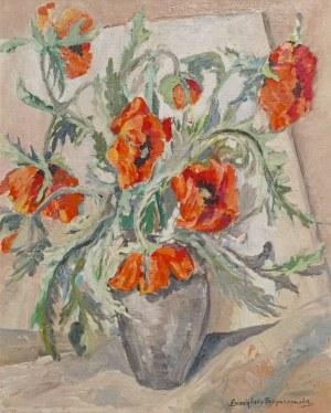 Irena ŁUCZYŃSKA-SZYMANOWSKA (1890-1966), Maki w wazonie, ok. 1960