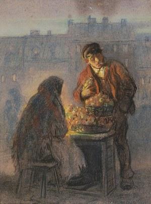 Józef RAPACKI (1871-1929), Handlarka jabłkami, 1923