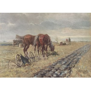 Leonard WINTEROWSKI (1872-1927), Na polu, 1913