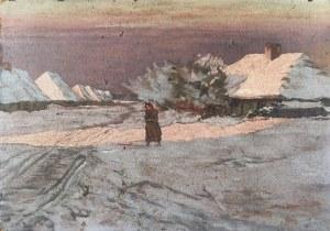 Malarz nieokreślony (XIX/XX w.), Wieś zimą
