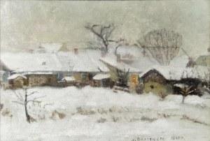 Anna MAŚLAKIEWICZ-BRZOZOWSKA (1912-1986), Pejzaż zimowy, 1940