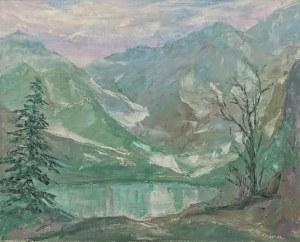 Autor nieokreślony, XX w., Jezioro w górach