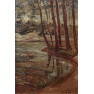 Wincenty WODZINOWSKI (1866-1940), Pejzaż z rzeką