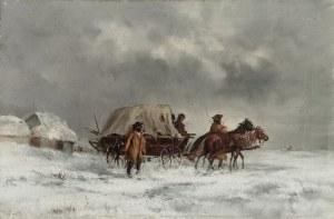 Malarz nieokreślony, XIX w., Zimową porą