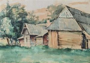 Stefan FILIPKIEWICZ (1879-1944), Pejzaż z chatami