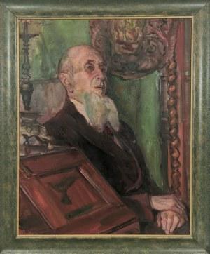 Kasper POCHWALSKI (1899-1971), Portret profesora Jana Wolskiego, 1954