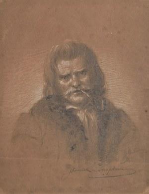 Andrzej (Jędrzej) GRABOWSKI (1833-1886), Portret mężczyzny z fajką - Kowaluka ze Strepowa