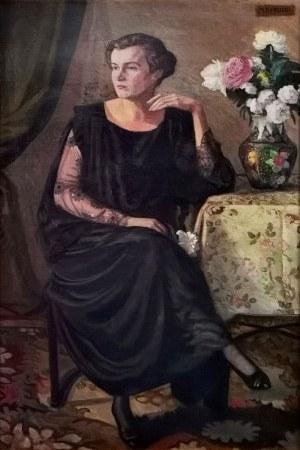 Michał REKUCKI (1884-1971), Portret Stanisławy Türschmidt, lata 30. XX w.