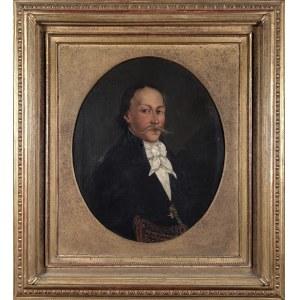 Malarz nieokreślony, XIX w., Portret mężczyzny w białej koszuli