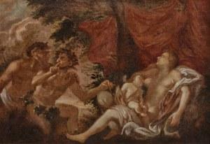 Malarz nieokreślony, XVII w., Fauny podglądające śpiącą Wenus i Amora