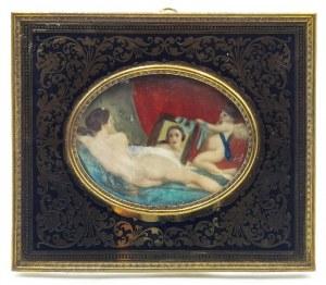 Malarz nieokreślony (XIX/XX w.), Wenus z lustrem - wg Velazqueza - miniatura