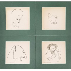 Kazimierz SICHULSKI (1879-1942), Zestaw czterech karykatur, 1904