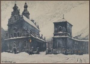 """Odo DOBROWOLSKI (1883-1917), Kościół OO Bernardynów, z teki: """"Lwów"""", 1915"""