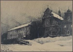 """Odo DOBROWOLSKI (1883-1917), Uniwersytet i kościół św. Mikołaja, z teki: """"Lwów"""", 1915"""