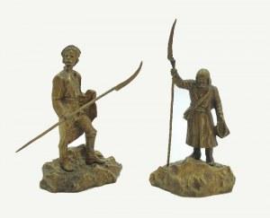 Firma BRACI ŁOPIEŃSKICH, Dwie figurki kosynierów