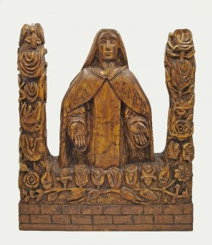 AUTOR NIEROZPOZNANY - MARIUS-DENIS, Matka Boska Orantka i Rosarium