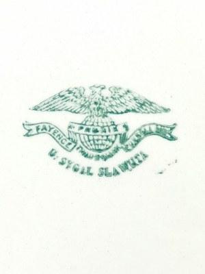 Wytwórnia fajansu i porcelany Uszera Sygala w Sławucie, Półmisek serwisowy owalny, z gładkim kołnierzem