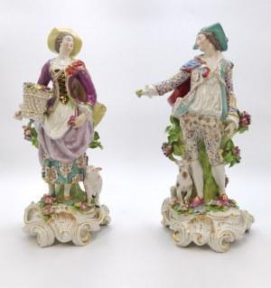 Nieokreślona wytwórnia środkowoeuropejska, Para figur: pasterka i pasterz