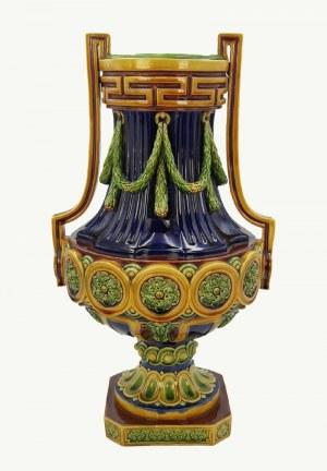 Minton (wytwórnia zał. 1798), Wazon - amfora z ornamentem festonów i rozet